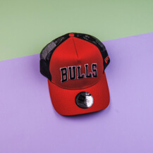 Кепка New Era Chicago Bulls Reverse Red A Frame Trucker