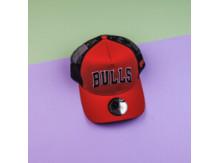 Кепка New Era Chicago Bulls Reverse Red A Frame Trucker