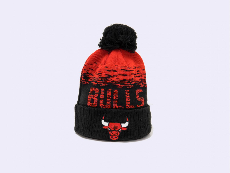 Шапка New Era NBA Chicago Bulls Knit Cuff /black, red