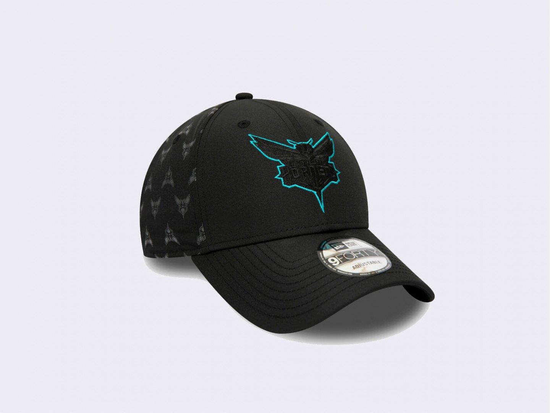 Кепка New Era Charlotte Hornets Nylon 9FORTY cap / black
