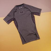 Компрессионная футболка Under Armour HG Armour SS / grey