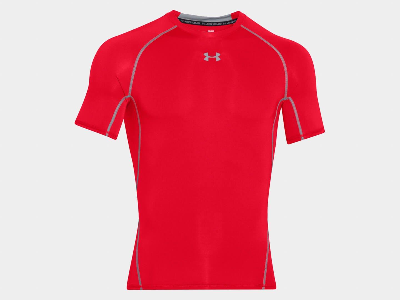 Компрессионная футболка Under Armour HeatGear Armour Ss / red