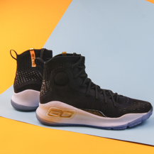 Мужские кроссовки Under Armour Curry 4 / black, white, gold