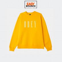 Свитшот  Obey New Box fit Crewneck / gold
