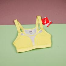 Женский топ Puma Curl Bra / sunny lime