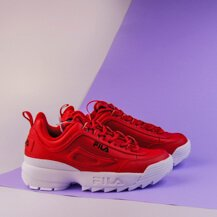 Женские кроссовки Fila Disruptor II Premium red/black/white