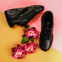 Женские кроссовки Nike Air Max 90 Leather (GS) / black