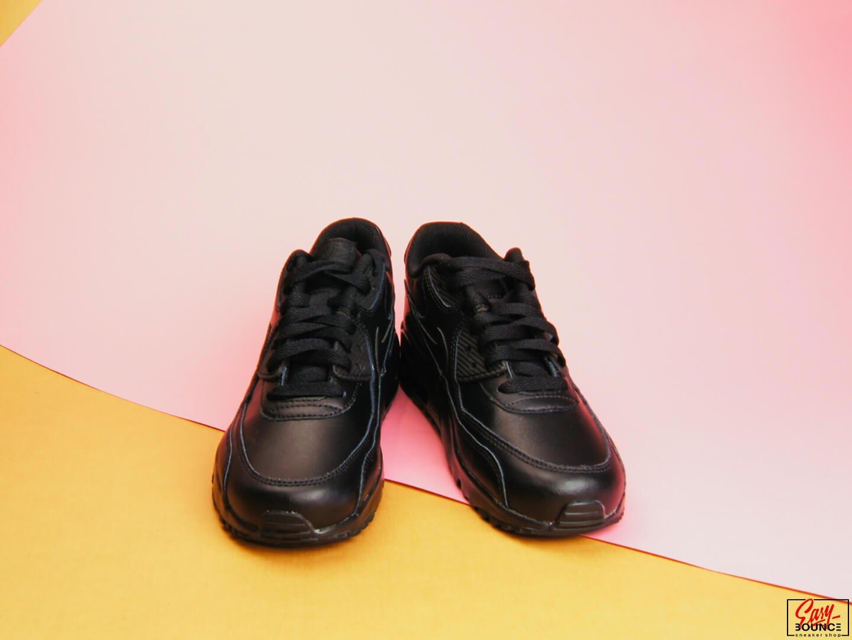 Женские кроссовки Nike Air Max 90 Leather (GS) / black