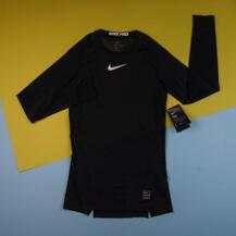 Компрессионная футболка Nike Pro Top LS, black