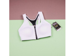Женский топ Nike Zip Sports Bra/ White-Black