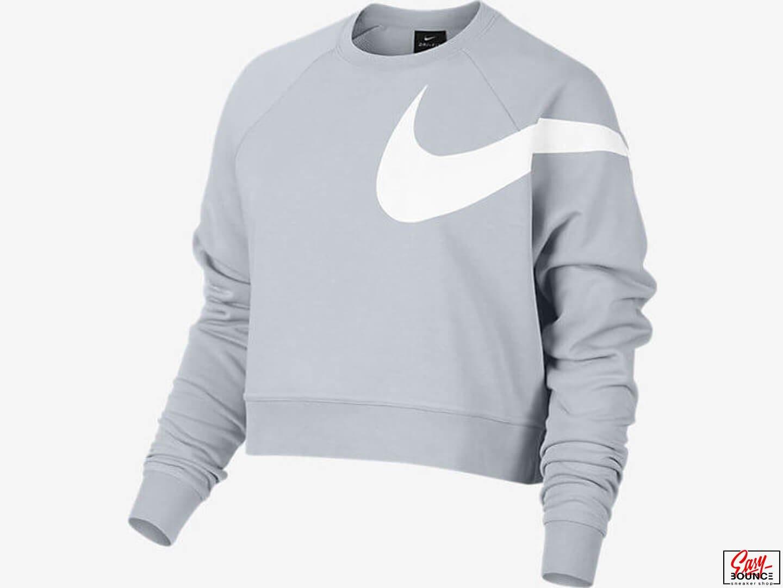 2208699c Женская укороченная кофта Nike Top Ls Versa / blue