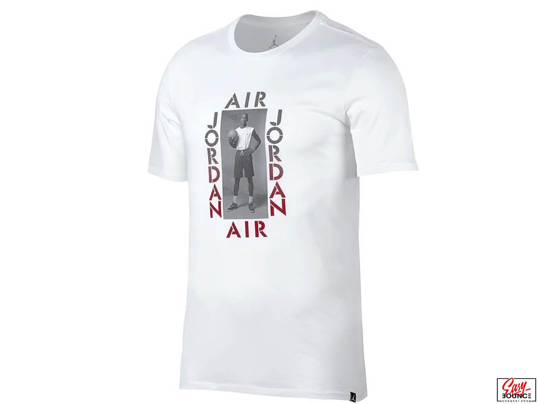 3309b0631833 Белая футболка Air Jordan Jordan Photo   white, gym red