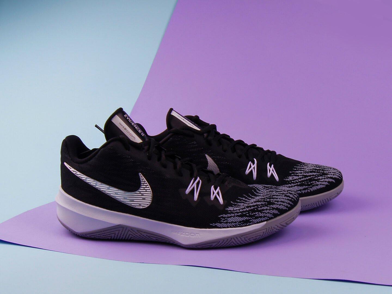 094c763f2 Мужские кроссовки Nike Zoom Evidence II / black, metallic silver, white