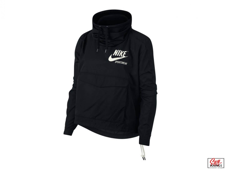 df6f9f10 Женская толстовка Nike Pullover Archive Jacket / black