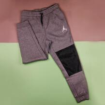 Штаны Air Jordan Jumpman Hybrid Fleece Pant, Carbon Heather/Black/White