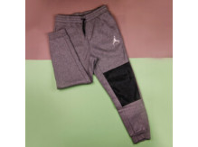 Штаны Air Jordan Jumpman Hybrid Fleece Pant, Carbon Heather/Black/White