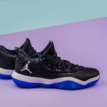 Мужские кроссовки Air Jordan Super.Fly Low, Black/White/Blue