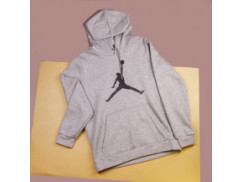 Толстовка Air Jordan Flight Fleece Jumpman Air Pullover / grey heather, black