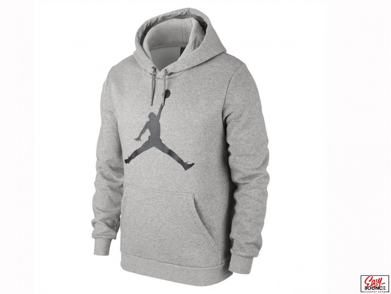 Толстовка Air Jordan Flight Fleece Jumpman Air Pullover / grey heather, black