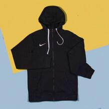 Толстовка Nike Hoodie FZ FLC Club19, black