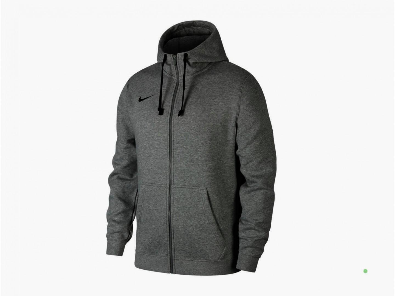 Толстовка Nike Hoodie FZ FLC Club19, grey