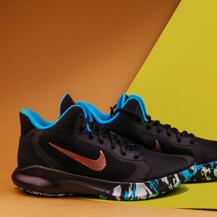 Мужские кроссовки Nike Precision III, black / red bronze  / current blue
