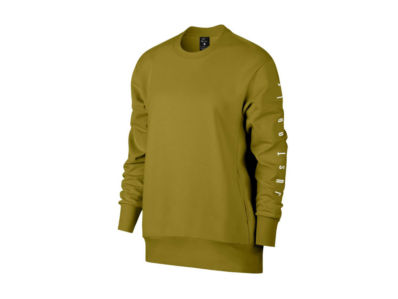 Женский свитшот Nike Dri-FIT Long-Sleeve Training Top / olive
