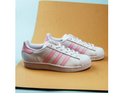 Женские кеды Adidas Originals Superstar / white, pink