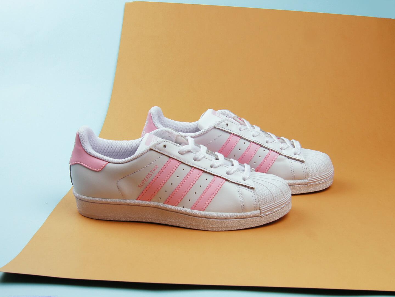 Женские кеды Adidas Originals Superstar / white, pink