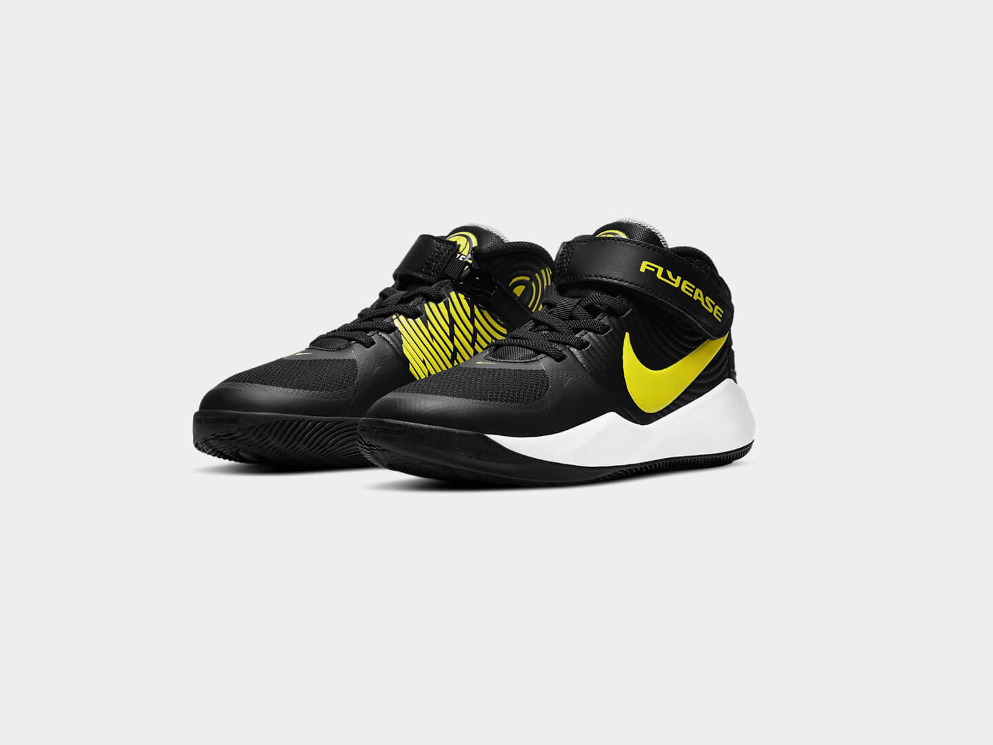 Кроссовки Nike Team Hustle D 9 FlyEase / black, high voltage