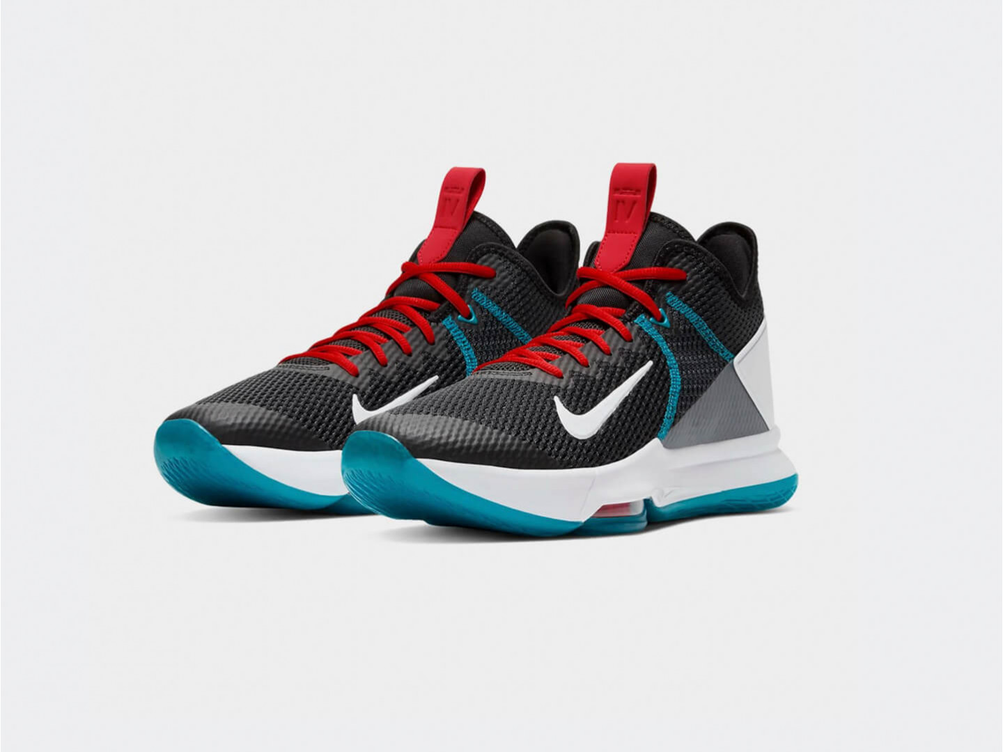 Кроссовки Nike Lebron Witness IV / black, white, glass blue