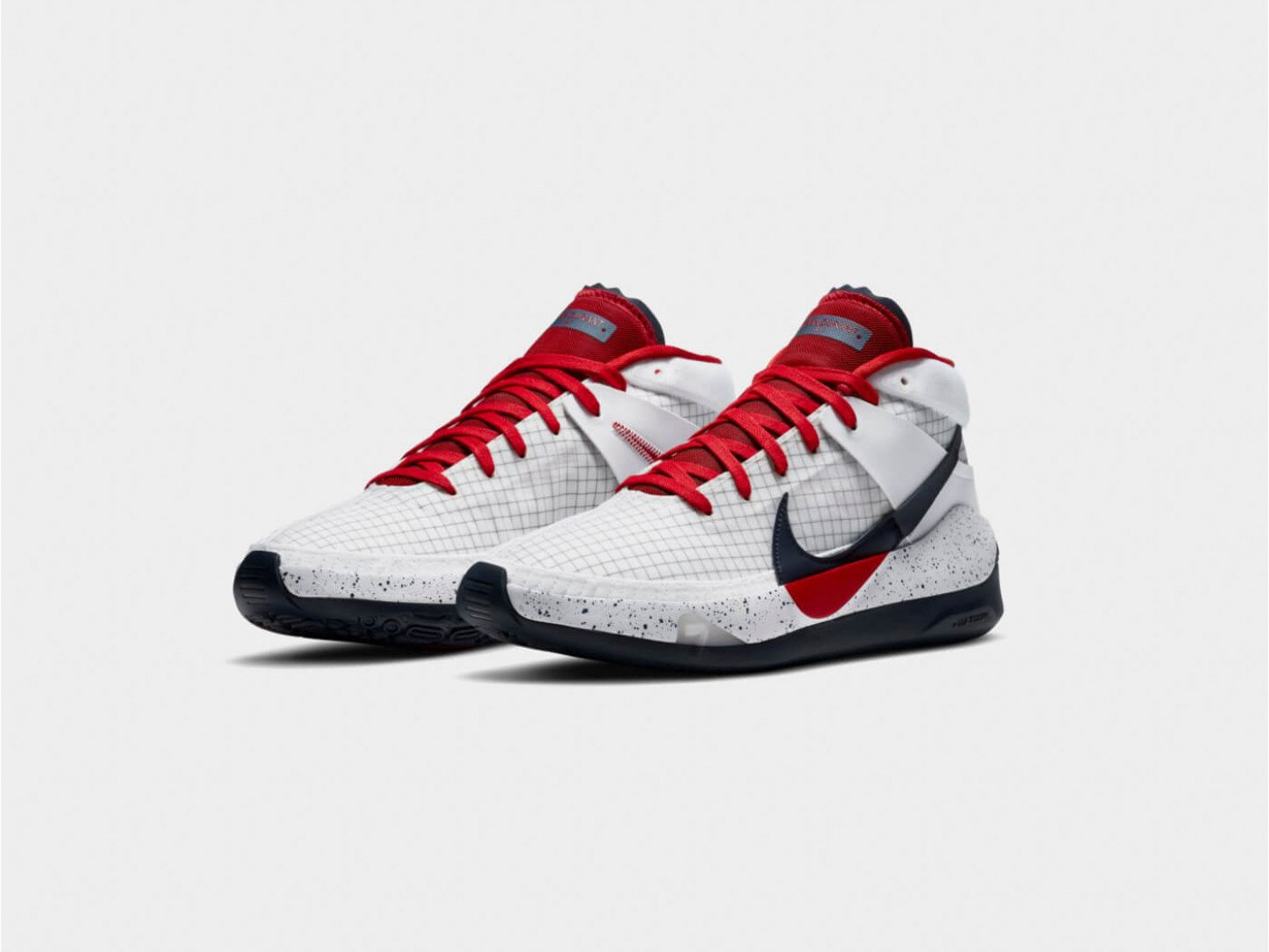 Кроссовки Nike KD 13 / white, red, obsidian