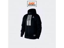 Толстовка Jordan Air Men's Fleece Full-Zip Hoodie / black