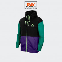 Толстовка Air Jordan Jumpman Air Fleece Full-Zip / black, court purple, barely volt