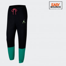 Брюки Air Jordan Jumpman Air Fleece Pant / black, court purple, barely volt