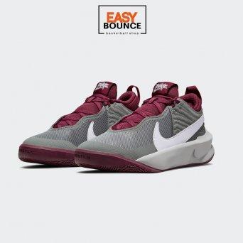 Кроссовки Nike Team Hustle D 10 / gray, burgundy
