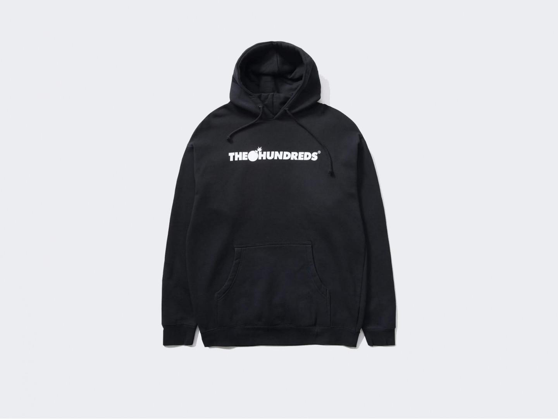 Толстовка The Hundreds Forever Bar Logo Pullover /black