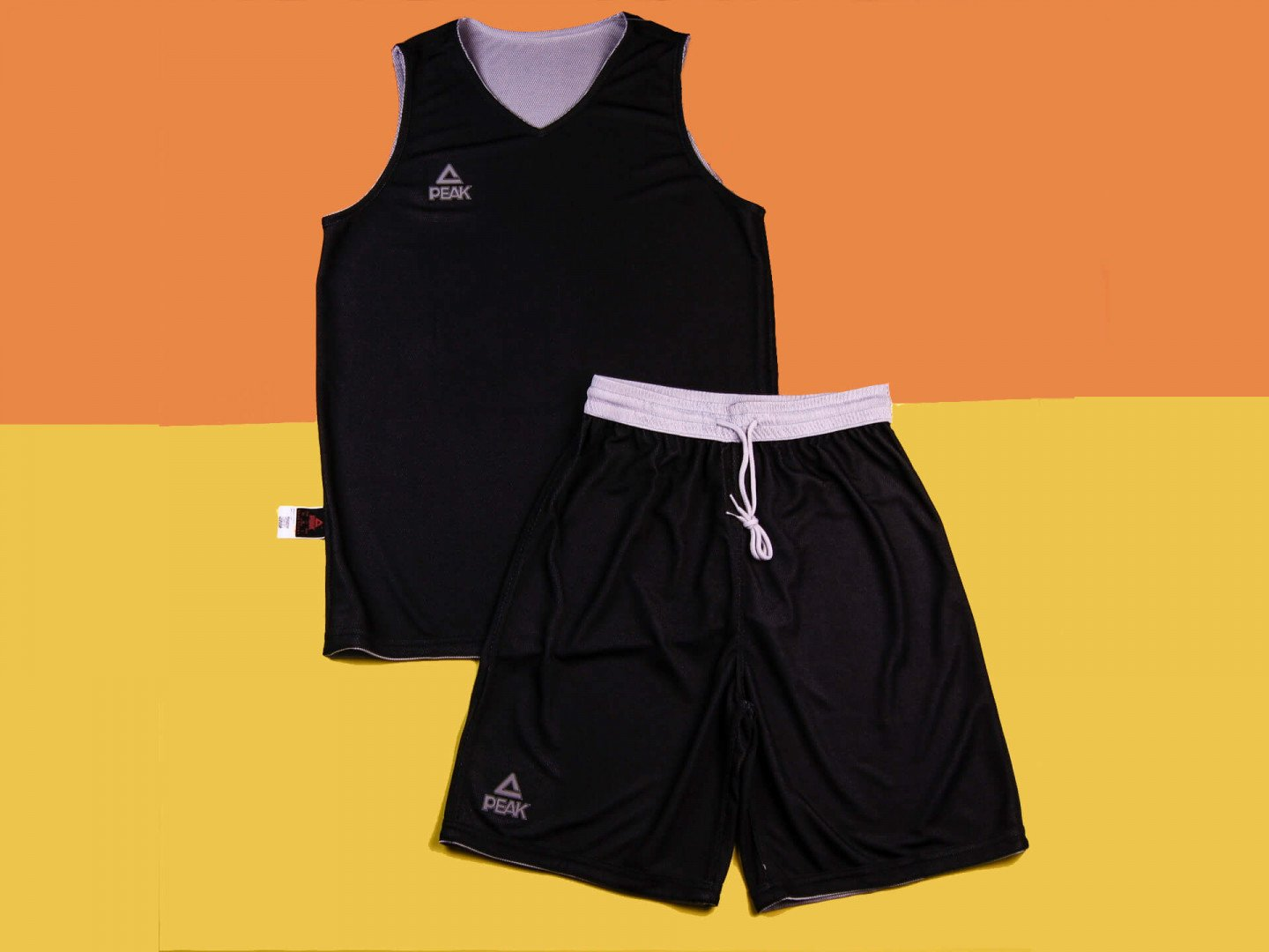 Двухсторонняя форма PEAK Basketball reversible, white/black