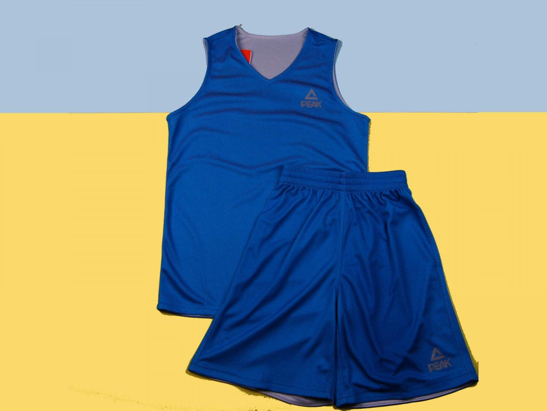 Двухсторонняя форма PEAK Basketball reversible, blue, white