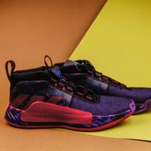 Кроссовки Adidas Dame 5, black / burgundy / scarlet