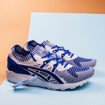 Мужские кроссовки Asics Gel-Kayano Trainer Knit, white/blue