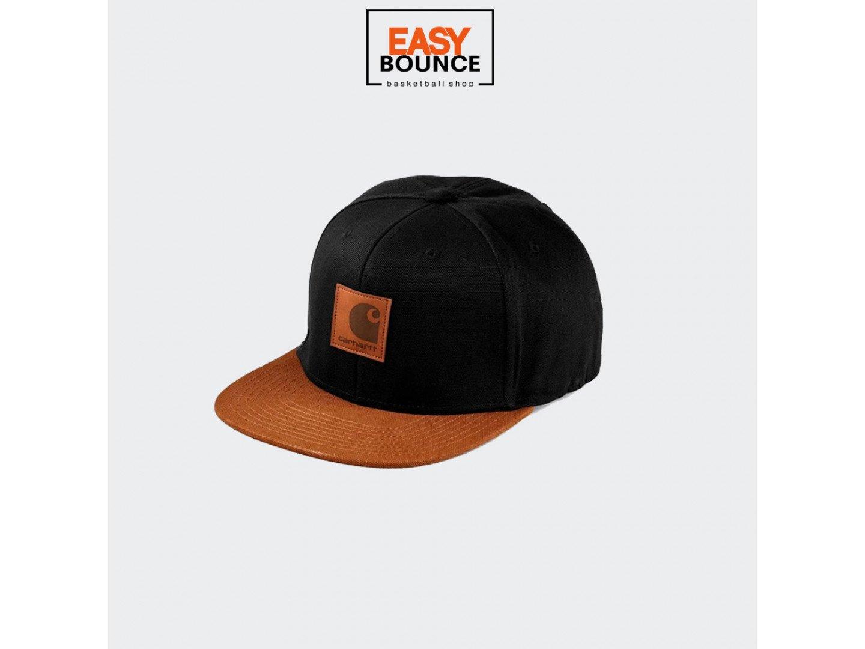 Кепка Carhartt WIP Logo Cap Bi-Colored black / hamilton brown