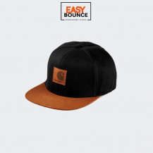 Кепка Carhartt WIP Logo Cap Bi-Colored black / hamilton brown