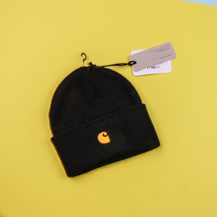 Шапка Carhartt WIP Chase Beanie / black, gold
