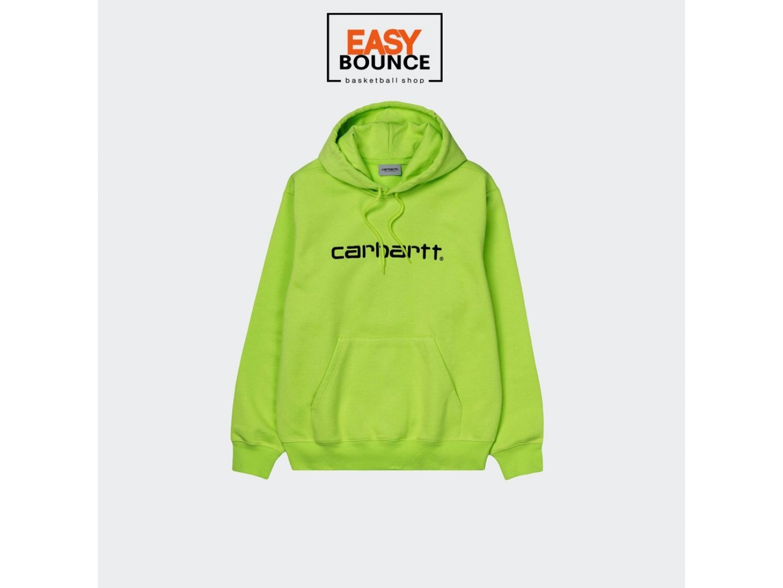Худи Carhartt WIP Hooded Sweatshirt / lime, black