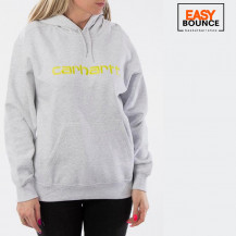 Толстовка Carhartt WIP W' Hooded Sweatshirt / ash heather, lime
