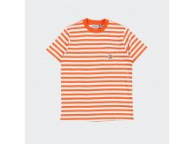 Футболка Carhartt WIP S/S Scotty Pocket T-Shirt SCOTTY STRIPE, CLOCKWORK / WHITE