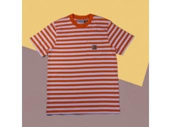 Футболка Carhartt WIP S/S Scotty Pocket T-Shirt SCOTTY STRIPE, CLOCKWORK / WHITE