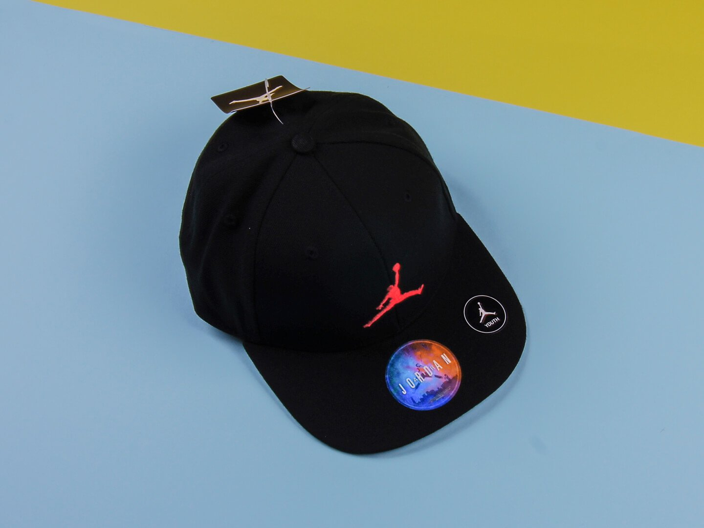 Детская кепка Jordan Jumpman Snapback Cap (GS) / Black, red