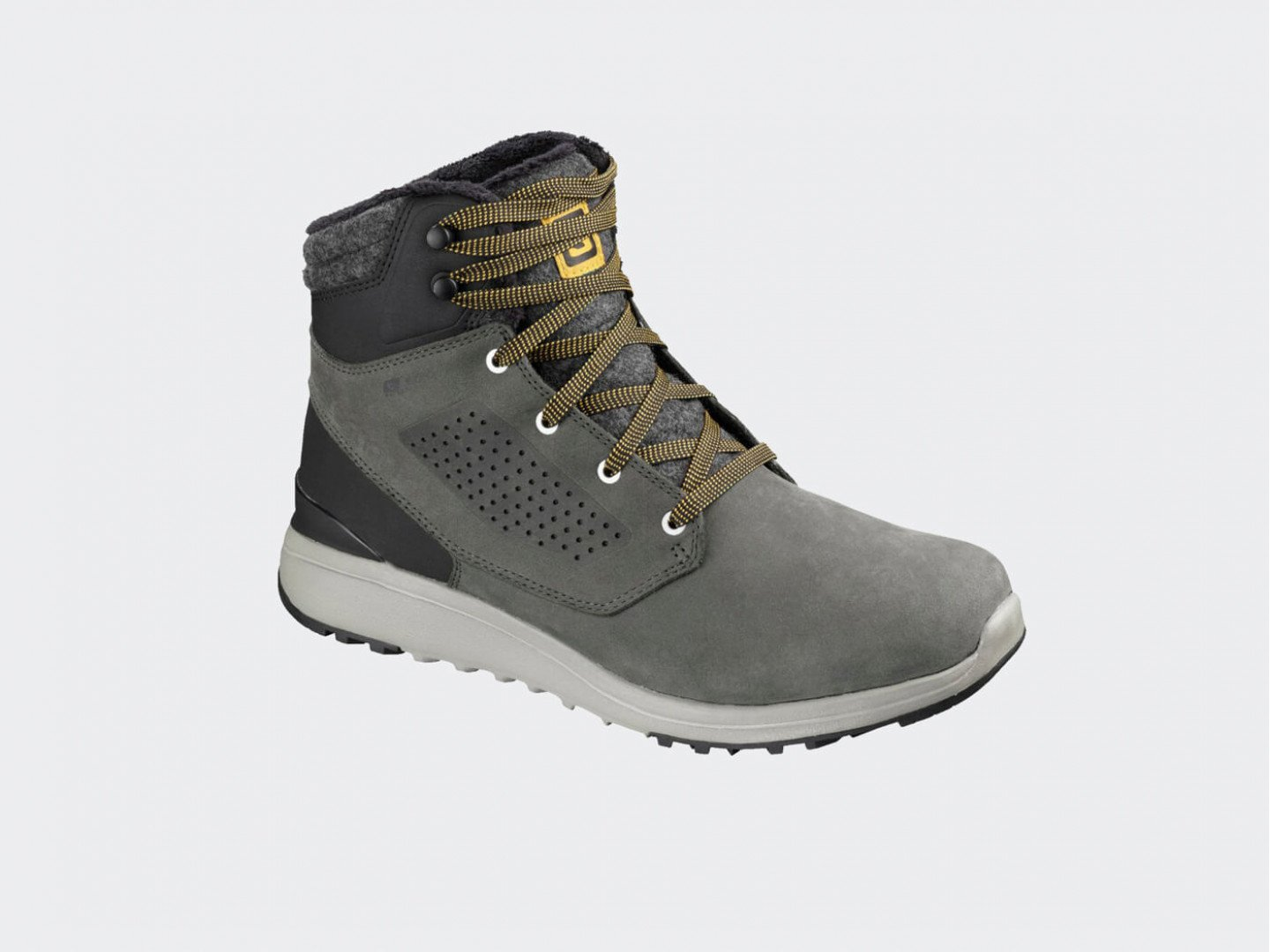 Ботинки Salomon Utility Winter Cs Wp / beluga, black, green sulphur